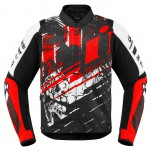 Blouson moto Homme ICON Overlord Stim Rouge