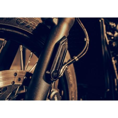 Caches réflecteurs tubes de fourche ABM Wunderkind pour Triumph 1200 Bobber 2017 et +