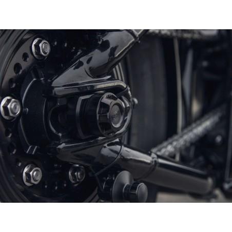 Caches bas de fourche et axe de bras oscillant ABM Wunderkind pour Triumph Bobber 2017 et +