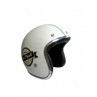 Casque Jet Torx Wyatt Mat White Tech2roo
