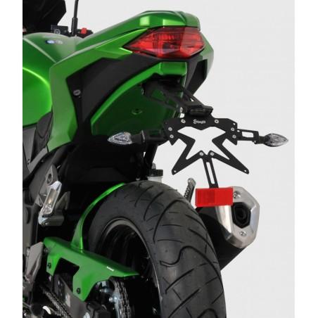 Support de plaque réglable Ermax + Platine pour Kawasaki Z300 2015-2016