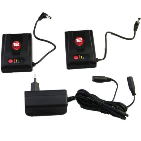 Kit 2 batteries 12v 1200 mA + chargeurs pour Gants Gerbing