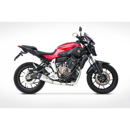 Ligne complète racing 2x1 inox ZARD pour Yamaha MT07 / XSR700 2014-2016
