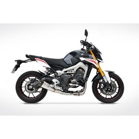 Ligne complète homologuée 3x1 inox ZARD pour Yamaha MT09 / XSR900 2014-2018