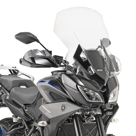 Bulle GIVI 2139DT Haute protection incolore (+20,5cm) pour Yamaha Tracer 900 et Tracer 900 GT 2018 et +