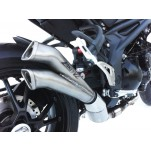 Silencieux inox racing V2 ZARD pour Triumph Speed Triple 2011-2015