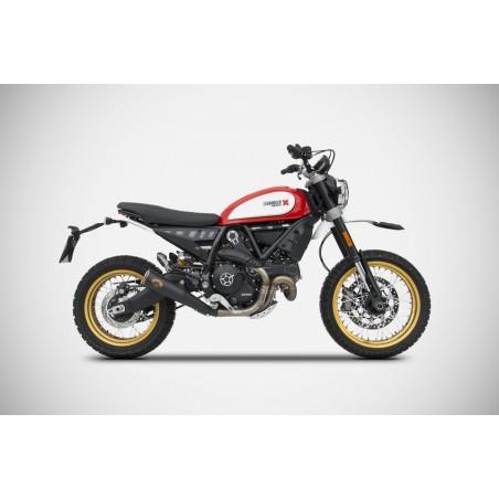 Silencieux bas inox racing ZARD pour Ducati Scrambler Desert Sled 2015-2018