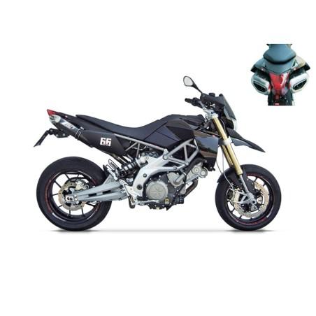 Silencieux racing carbone ZARD pour Aprilia Dorsoduro 750