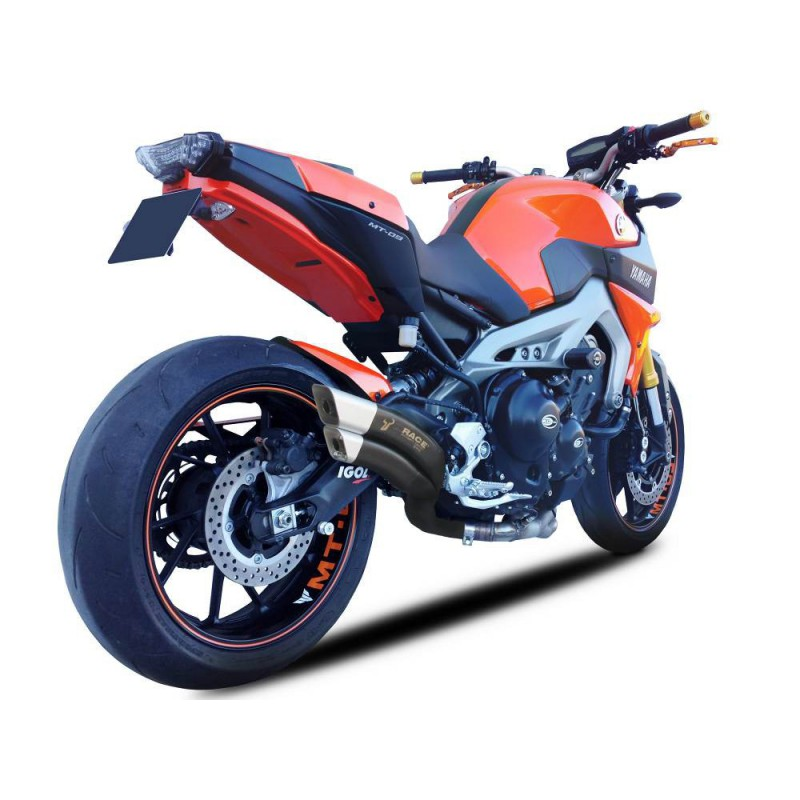 echappement ixrace z7 black yamaha mt 09 tracer 900 et xsr 900 tech2roo. Black Bedroom Furniture Sets. Home Design Ideas