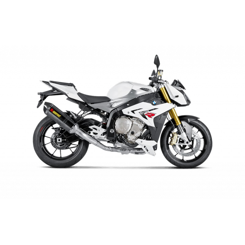 ligne compl te evolution akrapovic titane silencieux carbone pour bmw s 1000 r abs 2014 2016. Black Bedroom Furniture Sets. Home Design Ideas