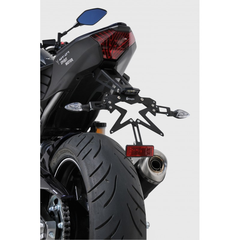 support de plaque r glable ermax pour yamaha mt07 fz07 tech2roo. Black Bedroom Furniture Sets. Home Design Ideas