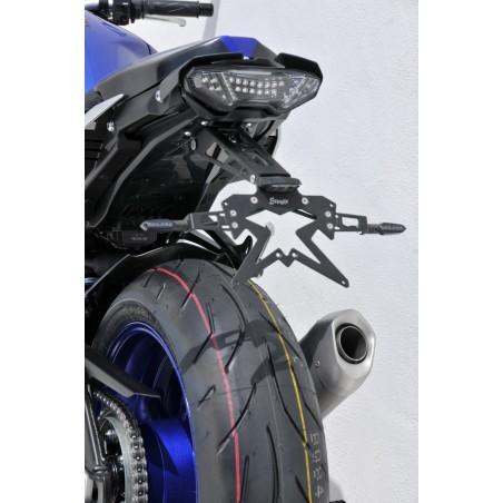 Platine aluminium anodisé noir pour support de plaque Ermax pour Yamaha MT-10 2016 et +