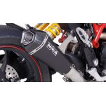 Silencieux Slip on REMUS HYPERCONE RACING Inox noir pour Ducati Hypermotard 939 2016 et +