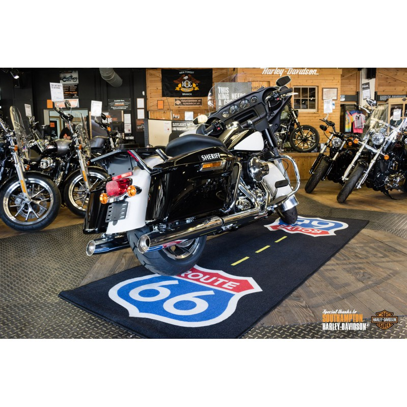 tapis moto xxl route 66 pour garage atelier paddock ou showroom tech2roo. Black Bedroom Furniture Sets. Home Design Ideas