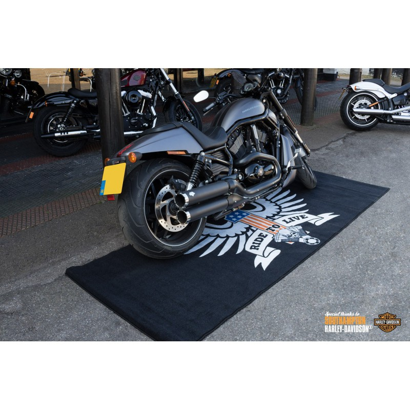 tapis moto xxl american eagle pour garage atelier paddock ou showroom tech2roo. Black Bedroom Furniture Sets. Home Design Ideas