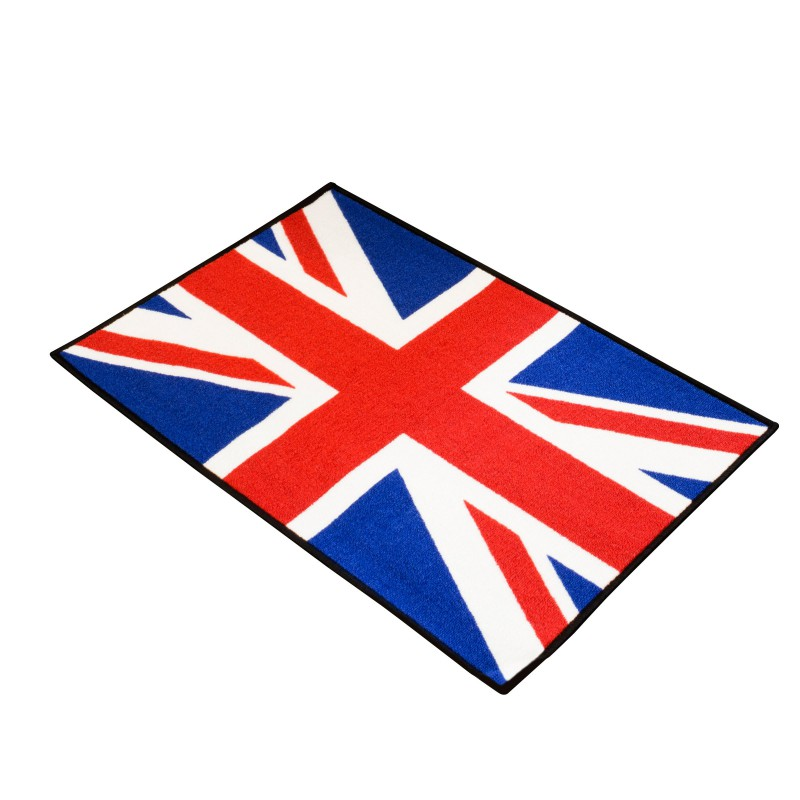 tapis d 39 entr e moto union jack pour garage atelier. Black Bedroom Furniture Sets. Home Design Ideas