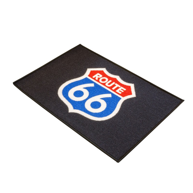 tapis d 39 entr e moto route 66 pour garage atelier paddock ou showroom tech2roo. Black Bedroom Furniture Sets. Home Design Ideas