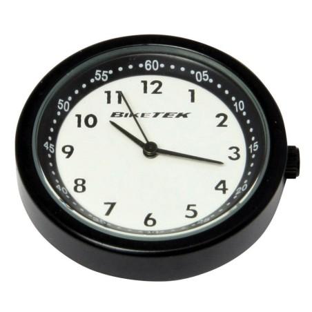 Horloge analogique noire à font blanc