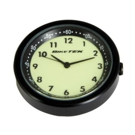 Horloge analogique noire à cadran brillant