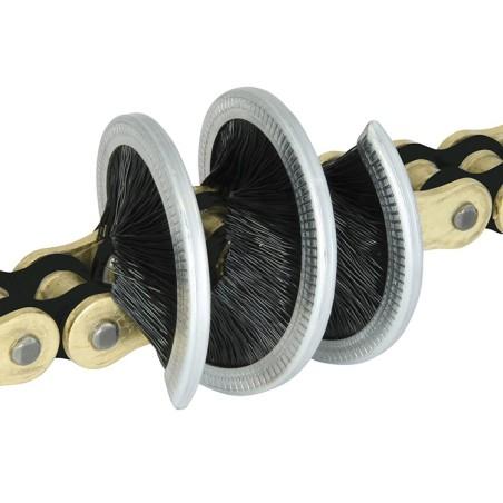 Brosse nettoyante Tirox 360° pour chaine moto et quad