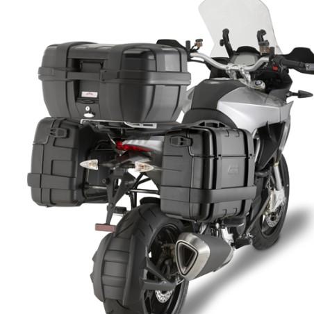 Valise Top Case MONOKEY TRK46BPACK2 GIVI Trekker 46 litres aluminium noir LA PAIRE