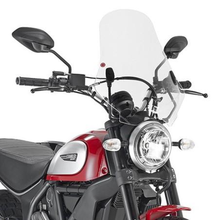 Bulle pare-brise GIVI incolore pour Ducati Scrambler 800 2015-2016 et Scrambler 400 2016