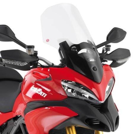Bulle pare-brise GIVI incolore + 9cm pour Ducati Multistrada 1200 2010-2012