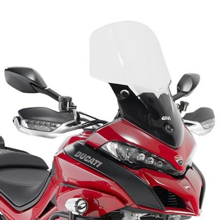 Bulle pare-brise GIVI incolore pour Ducati Multistrada 1200 2015-2017 et 950 2017