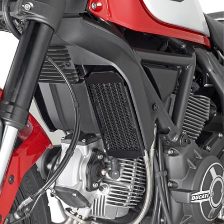 Grille de radiateur spécifique PR7407 GIVI en acier inox peinte en noire pour Ducati Scrambler 800 2015 et +