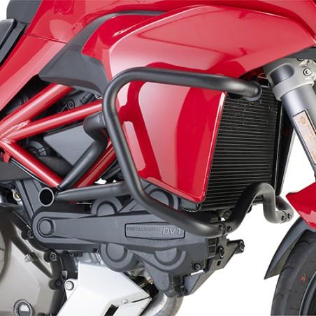 Grille de radiateur spécifique PR7406 GIVI en acier inox peinte en noire pour Ducati Multistrada 1200 2015 et +