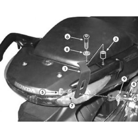 Kit spécifique PLX174KIT GIVI pour monter support PLX174 sans support Top case 260FZ pour Honda CBF500, CBF600 S/N, CBF1000 / AB