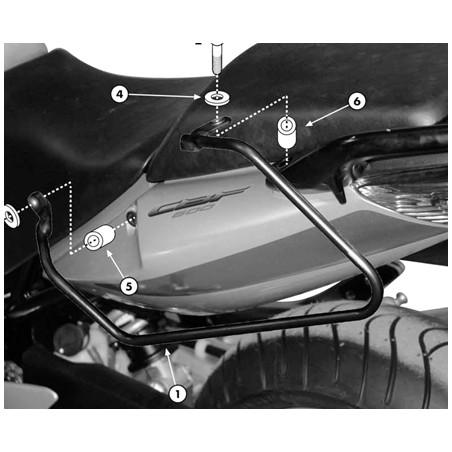 Kit spécifique T218 GIVI pour sacoches cavalières pour Honda CBF500, CBF600 S/N, CBF1000 /ABS