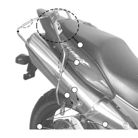 Kit spécifique T214 GIVI pour sacoches cavalières pour Honda CB600F Hornet / S 1998-2002