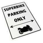 Plaque alu décorative Superbike Only pour garage