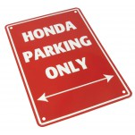 Plaque alu décorative Honda Parking Only pour garage