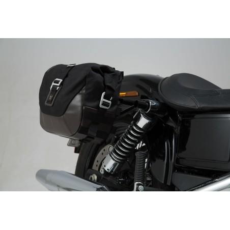 Legend Gear set de sacoches latérales et supports SW-MOTECH pour Harley Davidson Dyna Wide Glide 2009 et +