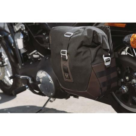Legend Gear set de sacoches latérales et supports SW-MOTECH pour Harley Davidson Dyna Low Rider, Street Bob 2009 et +