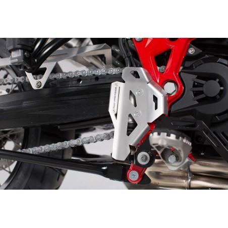Protection de maître-cylindre arrière Gris SW-MOTECH pour BMW F650GS Twin, F700GS, F800GS / Adventure, Husqvarna TR650