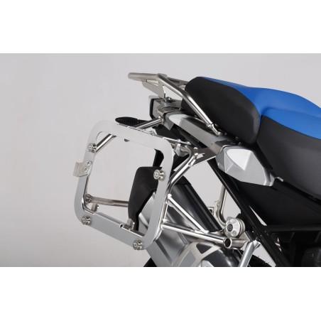 Kit adaptateur pour valise TraX® EVO Gris. Pour OEM BMW R1200GS LC Adv. Par paire