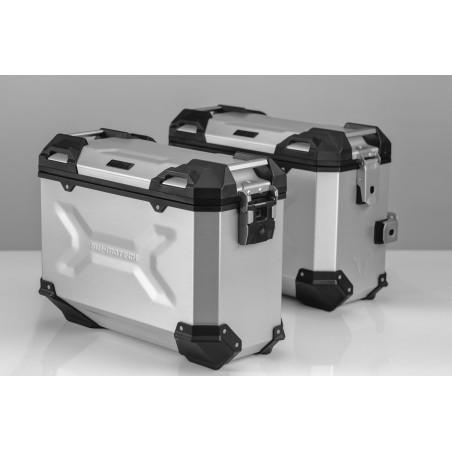 Kit de sacoches TRAX ADVENTURE Gris. 37/37 l. Honda NC700 S/X,  NC750 S/X
