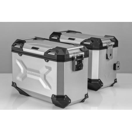 Kit de sacoches TRAX ADVENTURE  Gris. 45/45 l. Honda XL 700 V Transalp 2007 et +