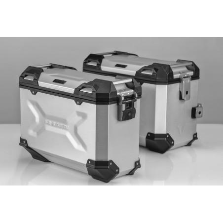 Kit de sacoches TRAX ADVENTURE Gris. 45/37 l. Suzuki DL 650 V-Strom 2011 et +