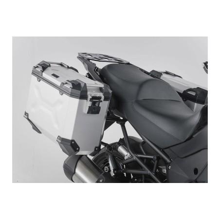 Kit de sacoches TRAX ADVENTURE Gris. 37/37 l. Kawasaki Versys 1000 2015 et +