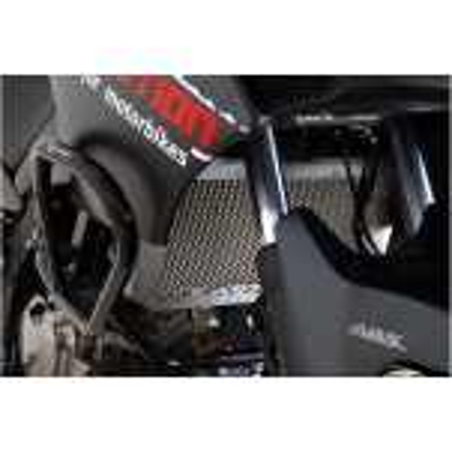 Protection de radiateur en aluminium Gris. Suzuki DL 650 V-Strom 2004-2010