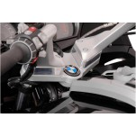 Rehausseur de guidon hauteur 25mm SW-MOTECH Gris pour BMW R1200RT 2005 et +