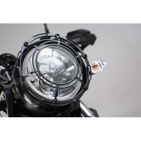 Protection de phare Grille. Noir. Yamaha XSR 700 (16-).
