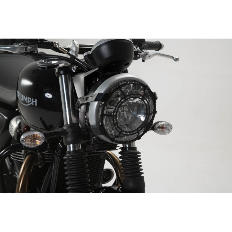 protection de phare noir triumph street twin bonneville t120 thruxton 1200 tech2roo. Black Bedroom Furniture Sets. Home Design Ideas