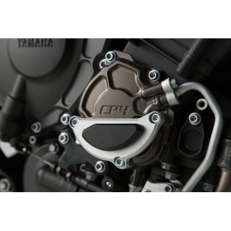 Protection de couvercle de carter moteur Noir/gris SW-MOTECH pour Yamaha MT10 2016