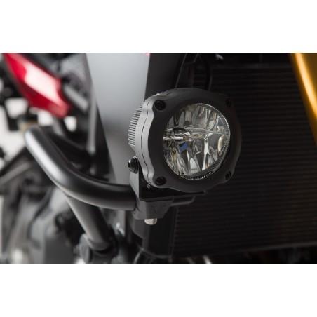Fixations pour feux additionnels HAWK Noir pour Crashbars diamètre 22, 26, 27, 28 mm