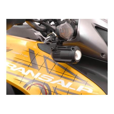 Support pour feux additionnels HAWK Noir Honda XL700V Transalp 2007 et +